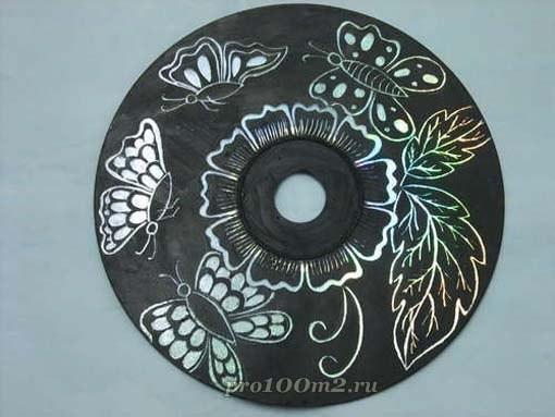 Украшение для стен из CD-диска