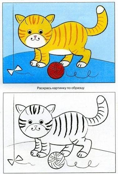 Уроки рисования с детьми: животные
