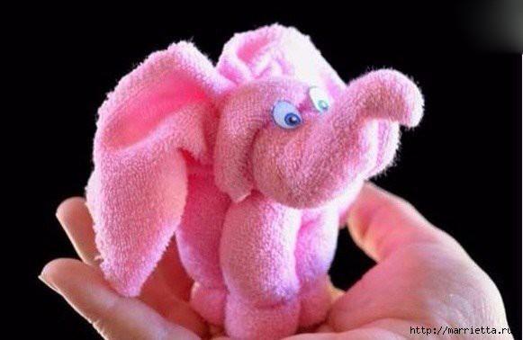 Слоник из полотенца 5