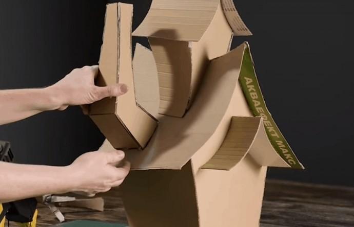 Волшебный домик из обычного картона