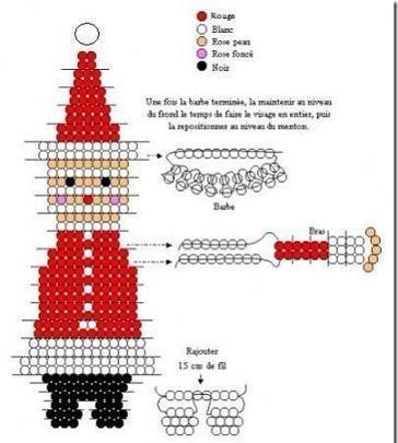 Ёлочка, снеговик и Дед Мороз из бисера 12