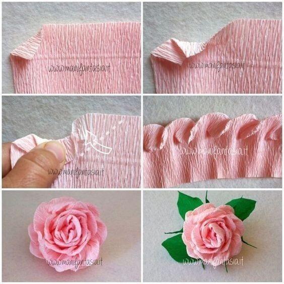 Создаём с детьми цветы из бумаги
