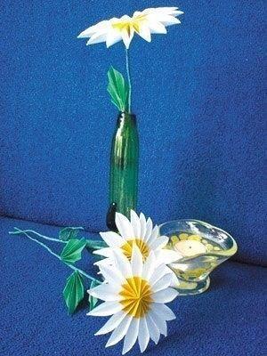 Делаем цветы с острыми рёбрами