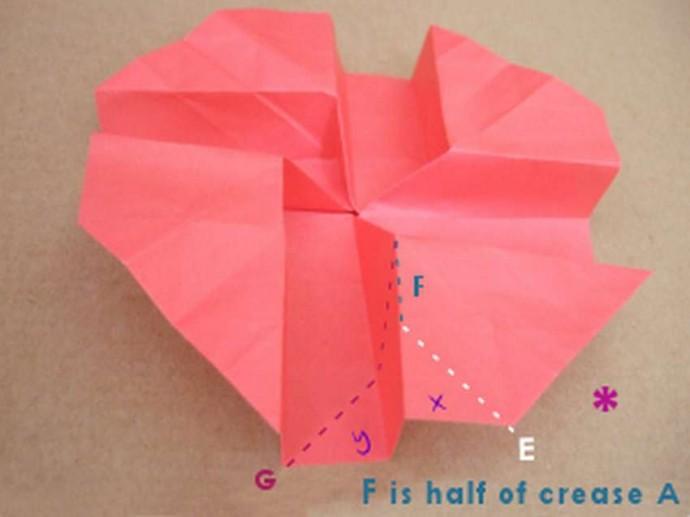 Делаем розу оригами 12