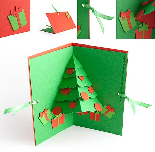 Новогодняя открытка, которую сделают и малыши 8