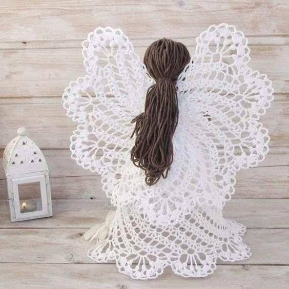 Ажурные ангелочки крючком