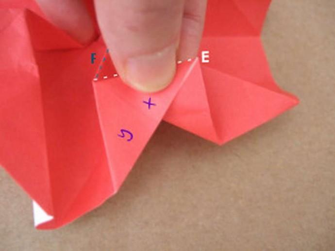 Делаем розу оригами 13