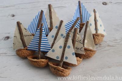 Кораблики из скорлупок