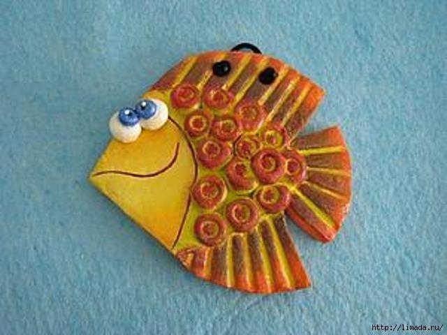 Рыбки из солёного теста