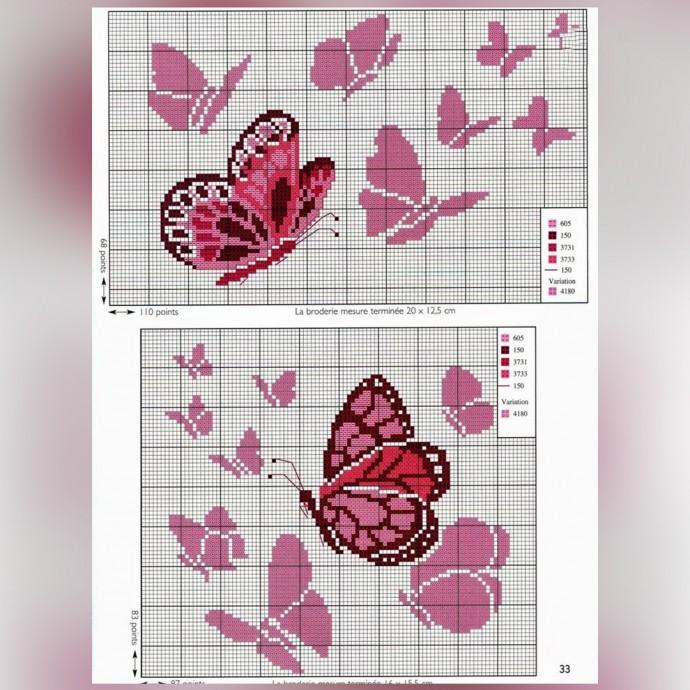 Вышиваем бабочек 3